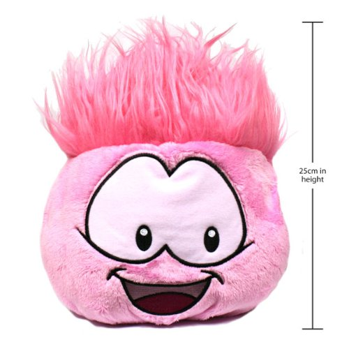 Disney Club Penguin 8 Inch Jumbo Series 1 Puffle Plush Pink Includes Coin with Code!