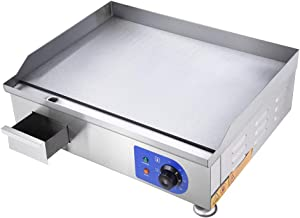 """WeChef Electric Countertop 24"""" Griddle Stainless Steel Flat Grill Hot Plate Adjustable Temperature Restaurant Equipment"""