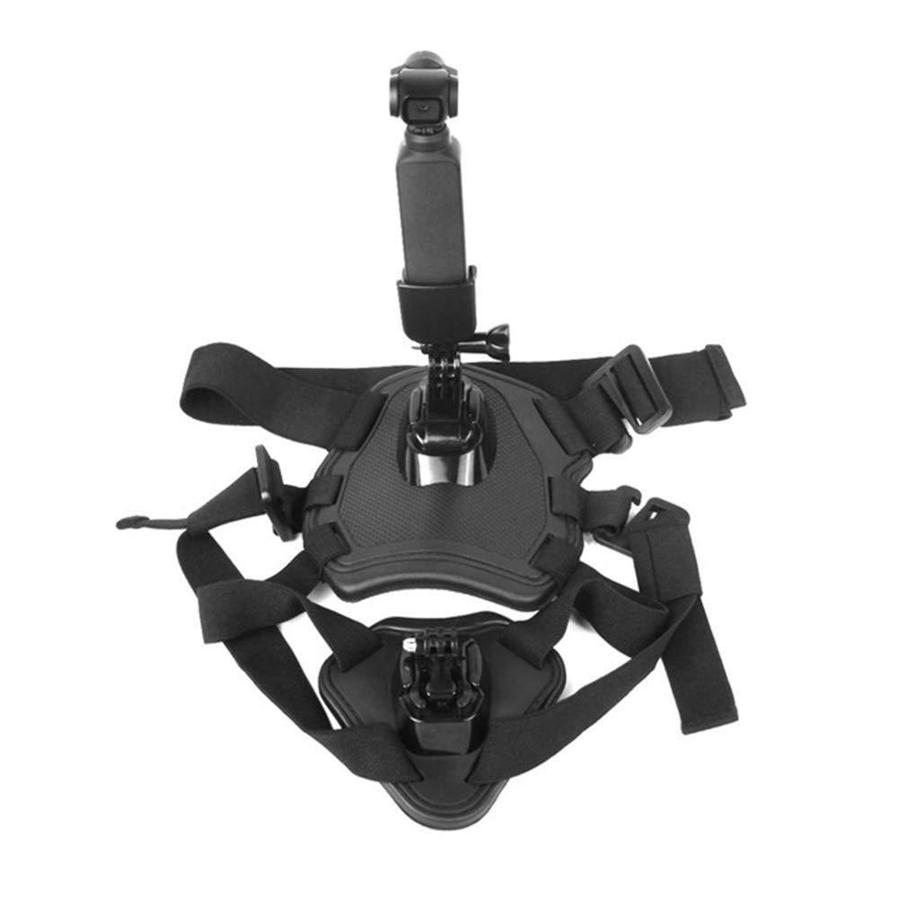 mage2pnper Belt Harness Pet, Multi-Function Pet Dog Chest Belt Harness Camera Holder for DJI OSMO Pocket Gimbal - Black