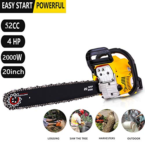 Hurbo 2 Stroke 52cc 20inch Saw Blade Petrol Chainsaw Outdoor Garden Yard Use with Tool Kit