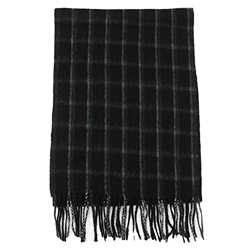 AROSA Men's Soft and Luxurious 100% Pure Wool Long Winter Scarf, Premium (Mens Pure Wool)