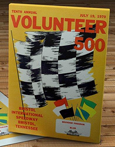 1970 Vintage Volunteer 500 Racing Program - Canvas Gallery Wrap - 12 x 16