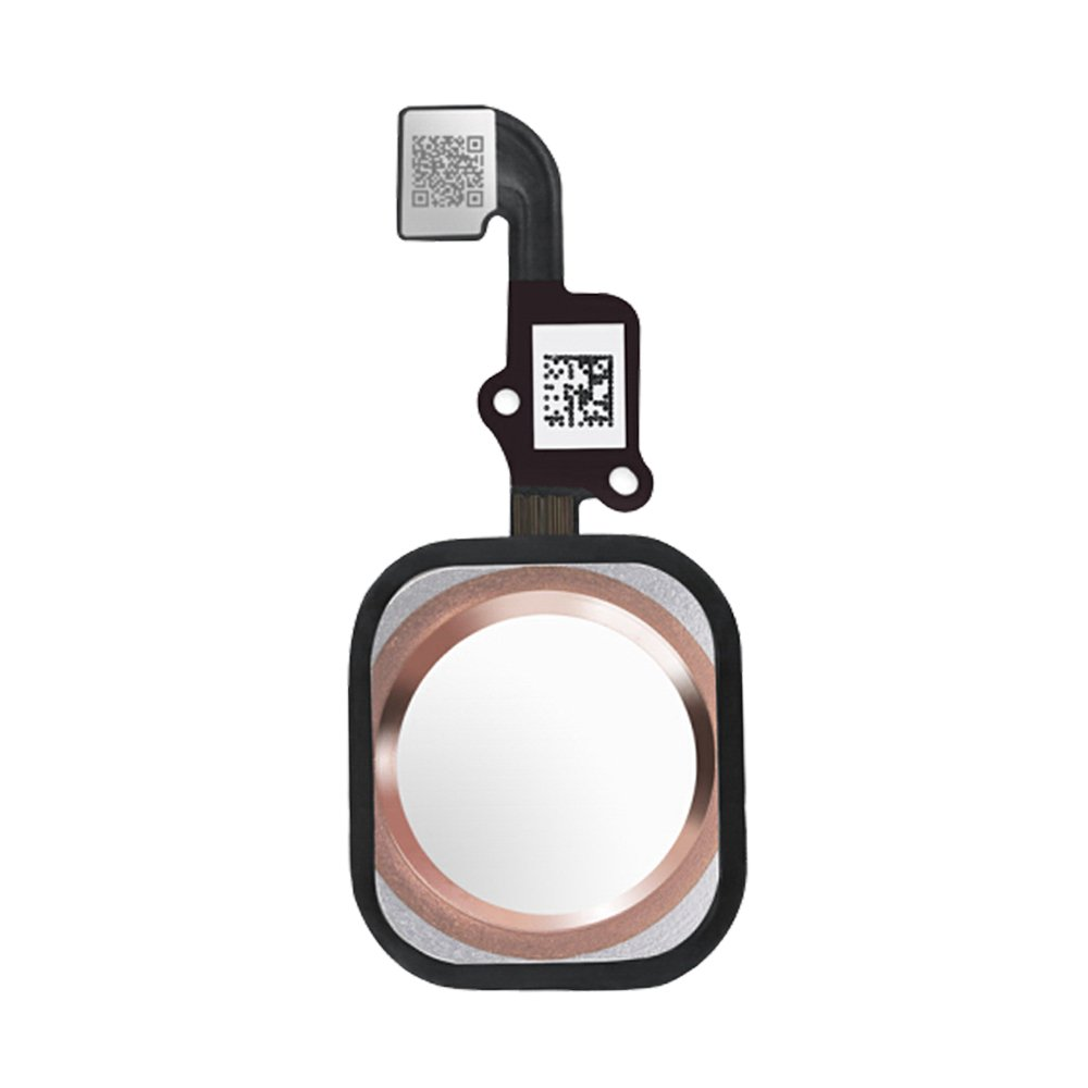 Afeax Compatible with Home Button Main Key Flex Cable Replacement for iPhone 6S and 6S Plus (Rose Gold)