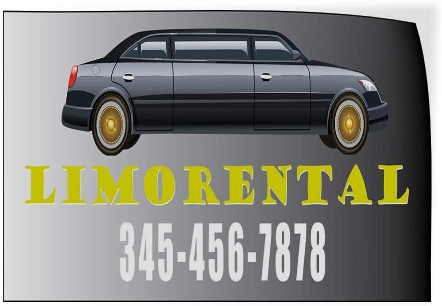 Custom Door Decals Vinyl Stickers Multiple Sizes Limo Rental Phone Number Limo Grey Business Limo Rental Outdoor Luggage /& Bumper Stickers for Cars Grey 45X30Inches Set of 5