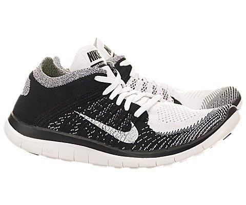 size 40 442dc 8c32f Nike Women's Free 4.0 Flyknit White/White/Black/Volt Running ...