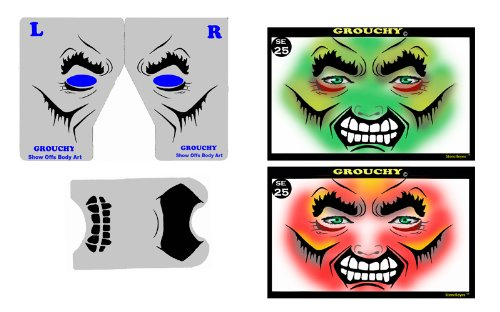 Face Painting Stencil - StencilEyes Grouchy - Hulk/Monster]()