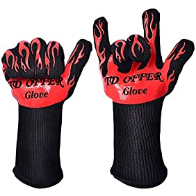BBQ Grilling Cooking Gloves Extreme Heat Resistant EN407,Hot Surface Handler 2 Glove