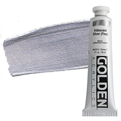 Acrylic Medium Golden Artist Colors Iridescent Silver (fine) 2oz tube
