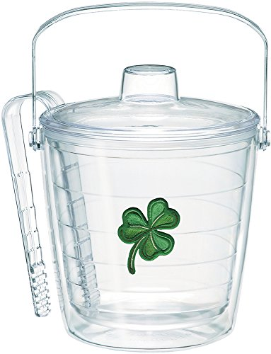 Tervis 1092382 Shamrock Ice Bucket with Emblem and Clear Lid 87oz Ice Bucket, Clear (Ice Bucket Tervis)