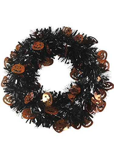 All Hallows Eve Halloween Jack-O-Lantern Pumpkin Front Door Wreath Decoration