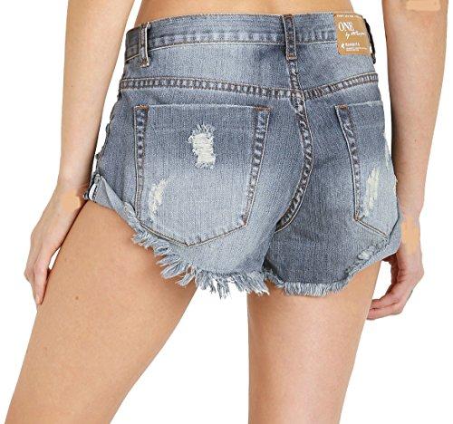 One Teaspoon Bandits Denim Shorts in Dusty, 28