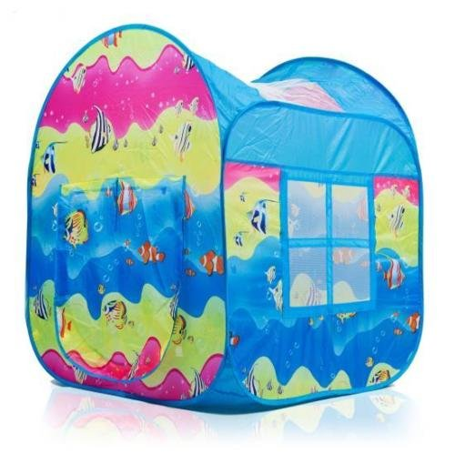 [Dimple Fun Underwater Design Pop-Up Pop Up Play Tent Mesh Windows DC11639 3+yr < Nylon Sides & Mesh Windows] (Animal That Starts With The Letter N)