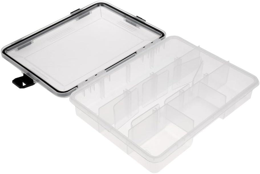 MagiDeal 1 St/ück Fischerei Aufbewahrungsbox K/öder-Beh/älter Tackle Box Angelzubeh/ör