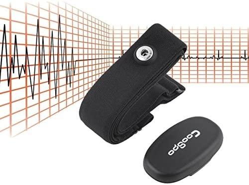 Dooret Monitor de frecuencia Cardíaca Bluetooth 4.0 Ant +, Sensor inalámbrico de frecuencia Cardíaca del Deporte Monitor de Cinta para el Pecho, ...