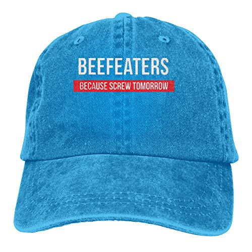Smallpeanut Unisex Beefeaters Because Screw Tomorrow Comfortable, Breathable, Handsome Sunbonnet - Natural Beefeaters
