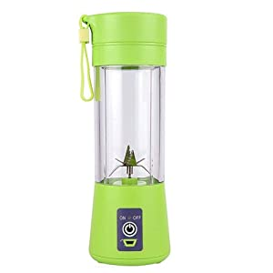 Mini Blender, Portable Electric Juicer Cup 380ML Personal Blender Smoothie Maker USB Rechargeable Fruit Juice Extractor and Mixer with 6PCS Blades for Home Office Outdoor (Green)