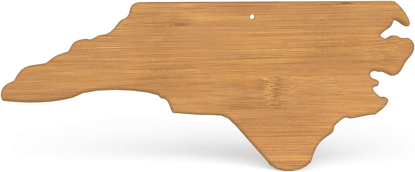North Carolina Bamboo Cutting Board, NC Serving Board State Shaped, Wilmington Cheese Board Home Decor, Charlotte Serving Dish, North Carolina Suveniers, Raleigh Serving Plate