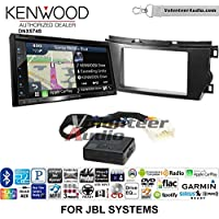 Volunteer Audio Kenwood DNX574S Double Din Radio Install Kit with GPS Navigation Apple CarPlay Android Auto Fits 2011-2012 Toyota Avalon with Amplified System