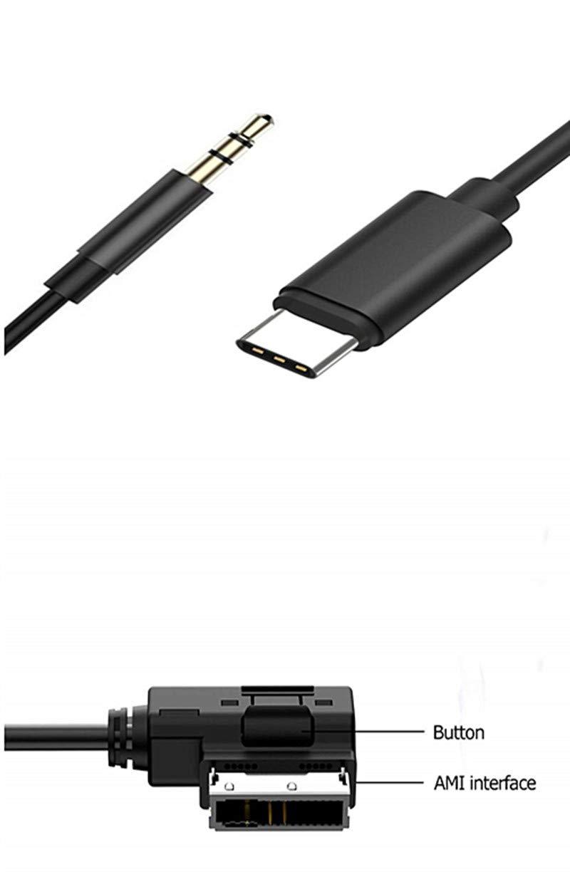 Mercedes Benz Tipo C Cable Auxiliar de 3,5 mm, AMI a USB C ...