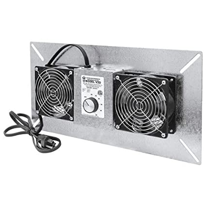Tjernlund V2D UnderAire Crawlspace Ventilator Fan Moisture Mold Reducing