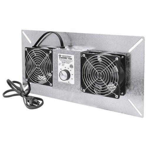 Tjernlund V2D UnderAire Crawlspace Ventilator Fan Moisture Mold Reducing ()