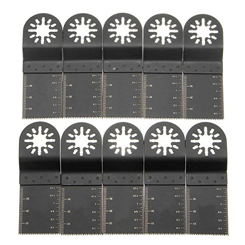 Pukido 10pcs 34mm High Carbon Steel Saw Blades for Fein Multimaster Bosch Oscillating Multitool Oscillating Tools