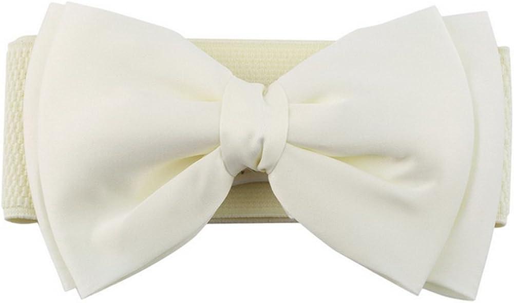Westeng Frauen breiter Tailleng/ürtel Elastischer Stretchg/ürtel W/ölbungs Bund Bowknot f/ür Lady 68cmx6cm