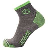 CloudLine Merino Wool 1/4 Top Running & Athletic Socks - Ultra Light- Made in US