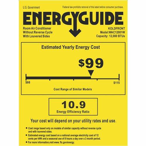 Find cheapest price for koldfront 12 000 btu 220v heat for 12000 btu 220v window air conditioner