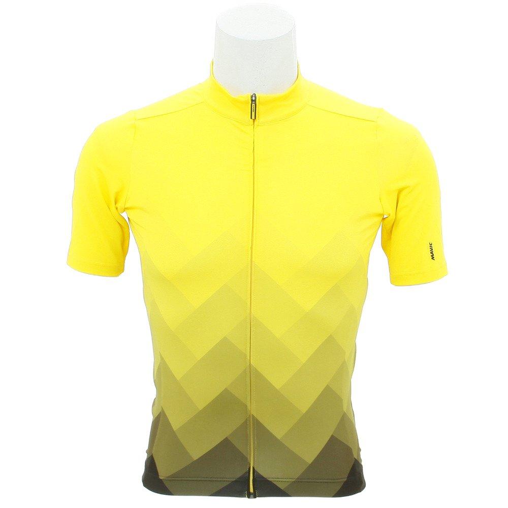 Mavic Cosmic Graphic Fahrrad Trikot kurz gelb schwarz 2018
