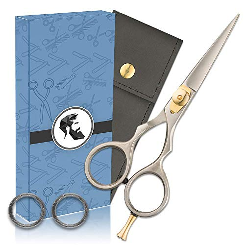 Premium 5' Japanese Steel Beard & Mustache Scissors]()