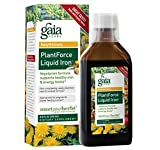 Gaia Herbs Plant Force Liquid Iron Supplement, 8.5 Ounce - Supports Healthy Iron and Energy Levels, Great-Tasting, Non-Constipating, Vegetarian Herbal Formula