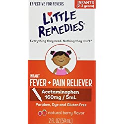 Little Remedies Fever Pain Reliever, Natural Mixed Berry Infants, 2 Fluid Ounce
