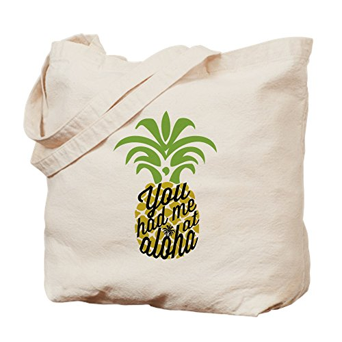 CafePress - You Had Me At Aloha - Natural Canvas Tote Bag, Cloth Shopping Bag by CafePress