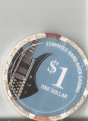 $1 hard rock seminole hotel guitar casino chip hollywood - Seminole Hard Casino Rock Hotel