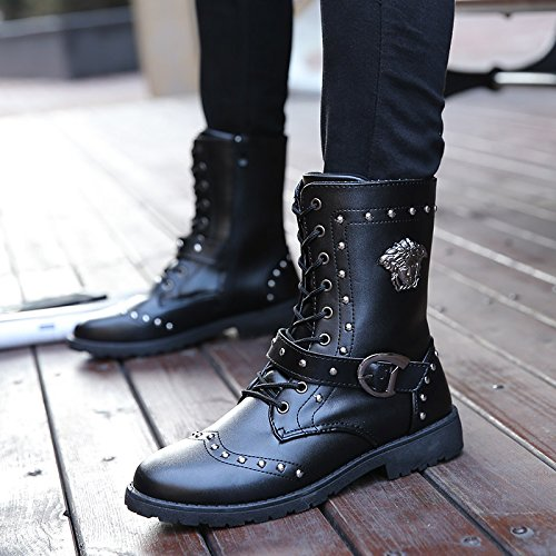 GUNAINDMX Spring and Autumn/men's shoes/casual/Martin boots/tall tube Black 88 Zi9wjPurQ