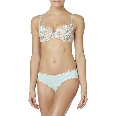 26b3b71be8fd Jaclyn Smith Women's T-Shirt Bra & Bikini Panties - Floral at Amazon ...
