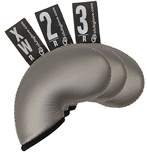 Club Glove Golf 3 Piece Regular Gloveskin Iron Covers (2, 3, X) (Brushed Metal) ()