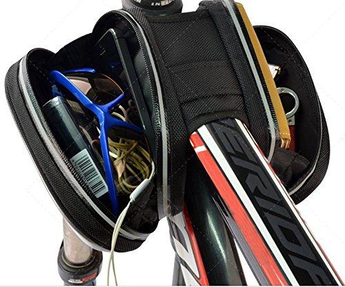 a-nam wasserdichten Bike Radfahren Rahmen Taschen, Fahrrad Front Tube Storage Bag Pouch