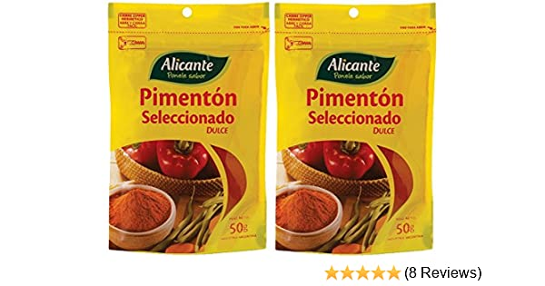 Amazon.com : Alicante Especias y Condimentos (Pimentón, 50 gr.) - PACK of 2. : Grocery & Gourmet Food