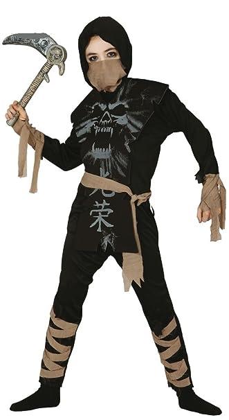 Boys Esqueleto Ninja Halloween Samurai libro Día Disfraz ...