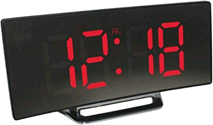 Digitaler Wecke LED Large Screen Mirror Clock LED Schreibtisch Uhr f/ür Schlafzimmer B/üro USB-Ladeanschluss kewaii Dimmbarer Led-Bildschirm Digitaluhr Wei/ß
