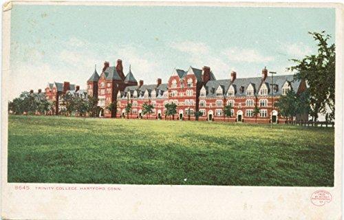 Vintage Postcard Print | Trinity College, Hartford, Conn, 1898 | Historical Antique Fine Art Reproduction