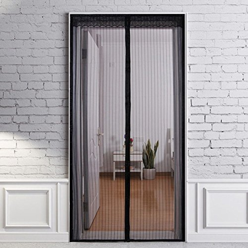Magnetic Screen Door,Full Frame , Tough Magic Mesh Curtain, Keep Bugs Out(34-Inch by 82-Inch Max)