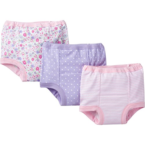 Gerber Little Girls' 3-Pack Training Pant - Floral (2T)