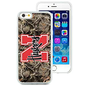 NEW Personalized Customized Iphone 6 Case with Ncaa Big Ten Conference Football Nebraska Cornhuskers 13 Protective Cell Phone TPU Cover Case for Iphone 6 Generation 4.7 Inch White