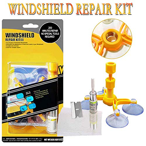 (YOOHE Car Windshield Repair Kit, DIY Windshield Crack Repair Tools for Fixing Auto Glass Windshield Crack Chips, Cracks, Bulls-Eye, Star-Shaped and Half-Moon Crescents)