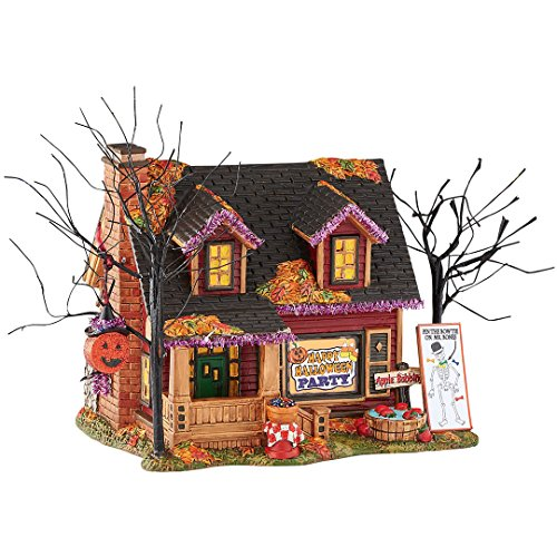 Department 56 Halloween Village Party Lit House (Halloween Village 56)