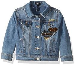 Girls Sequin Denim Jacket