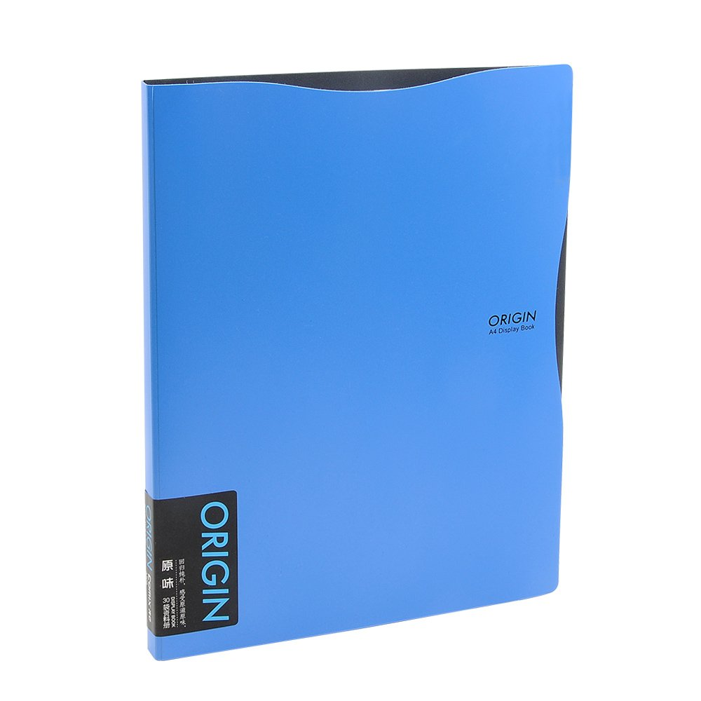 Binder Sheet Protector, Kakbpe Clear Non Glare Sheet Protector Portfolio Poly Organizer File Folder with 30 Transparent Pockets, Letter Size, A4 by Kakbpe